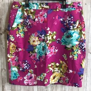 Charter Club Pink Floral Skirt 12Petite